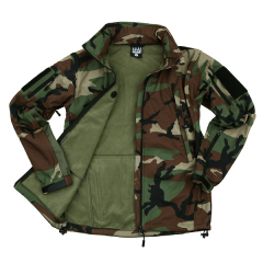 101-INC Soft shell jack tactical woodland