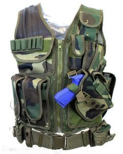 101-INC Tactical vest predator woodland