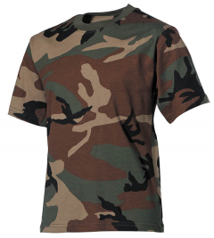 Kinder camo T shirt woodland