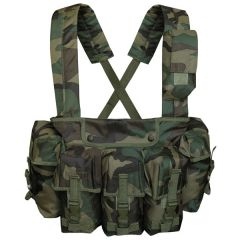 Mil-Tec chest rig 6 pockets woodland