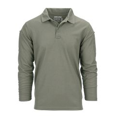 101-INC Tactical polo groen Quick Dry lange mouw
