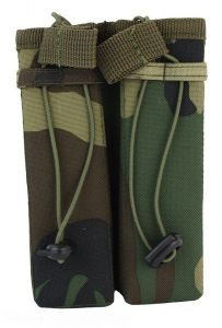 101-INC molle pouch side arm 2 magazijnen #C woodland