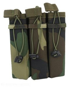 101-INC molle pouch side arm 3 magazijnen #B woodland