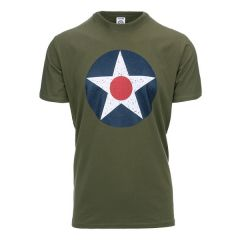 Fostex T-shirt U.S. Army Air Cops groen